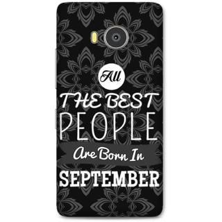 Lenovo A7700 Designer Hard-Plastic Phone Cover From Print Opera -Best People Born In September