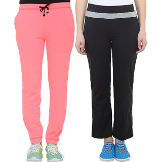 9fcf8239 Buy Vimal-Jonney Multicolor Cotton Blended Trackpants For Women(Pack Of 2)  Online - Get 67% Off