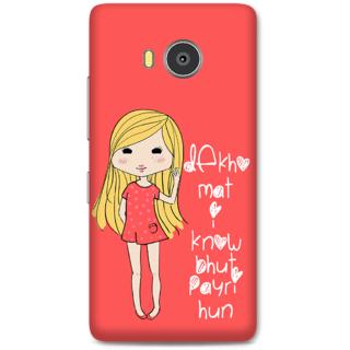 Lenovo A7700 Designer Hard-Plastic Phone Cover From Print Opera -Cute Girl