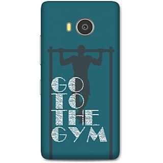 Lenovo A7700 Designer Hard-Plastic Phone Cover From Print Opera -Go To The Gym