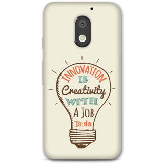 Moto E3 Power Designer Hard-Plastic Phone Cover From Print Opera -Innovation Is Creativity With A Job To Do