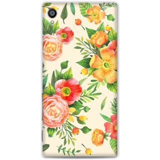 Sony Xperia Z5 Premium Designer Hard-Plastic Phone Cover From Print Opera -Yellow Floral