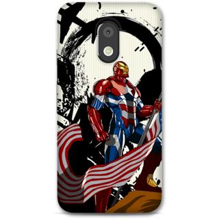 Moto E3 Power Designer Hard-Plastic Phone Cover From Print Opera -Iron Patriot