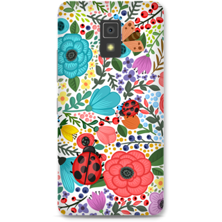 Lenovo A6600 Designer Hard-Plastic Phone Cover From Print Opera -Colored Flowers
