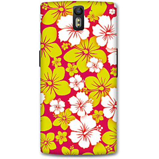 One Plus One Designer Hard-Plastic Phone Cover From Print Opera -Beautiful Flowers