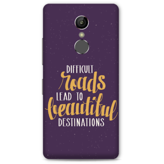 Gionee S6S Designer Hard-Plastic Phone Cover From Print Opera -Motivational Quote
