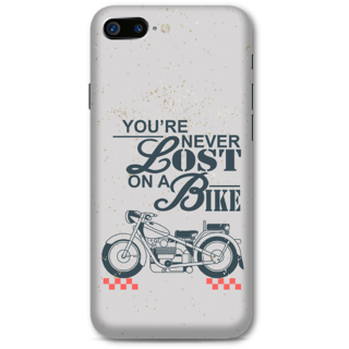 Iphone 7 Plus Designer Hard-Plastic Phone Cover From Print Opera -Never Lost On A Bike