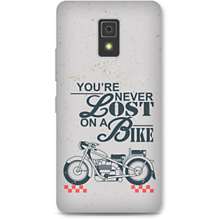 Lenovo A6600 Designer Hard-Plastic Phone Cover From Print Opera -Never Lost On A Bike