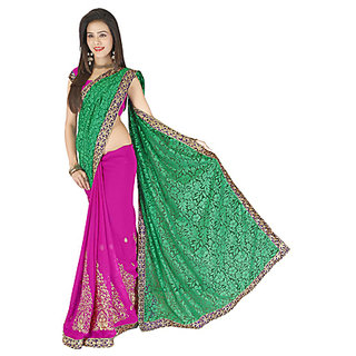 027397035 Buy Indian Beauty Multicolor Georgette Animal Saree With Blouse ...