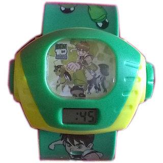Ben 10 Projection Dark Green kids watch