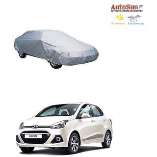 AutoSun Car Body Cover Silver Metty -  Hyundai Xcent (2014 Upwards)