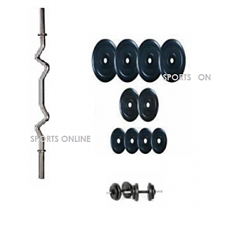 Bodyfit Home Gym  48 Kg Weight,  2 X 3 Feet + 3 Dumble Rod
