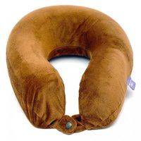 VIAGGI MEMORY FOAM TRAVEL NECK PILLOW - BROWN