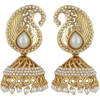 styylo Jewels Exclusive Golden White Earring Set/S 1720
