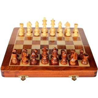 Craftgasmic 10.5 x 10.5 Inches Chess Set Cyber Monday Sale 2016 Magnetic Chess Queens Folding Chess