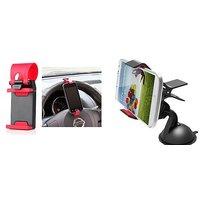Car Steering Wheel Universal Mobile Phone Socket Stand Holder Clip + Car Mobile Holder for all Car