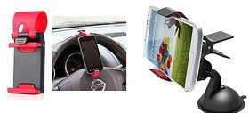 Combo Car Mobile Holder+ Car Phone Socket Stand for All Cars
