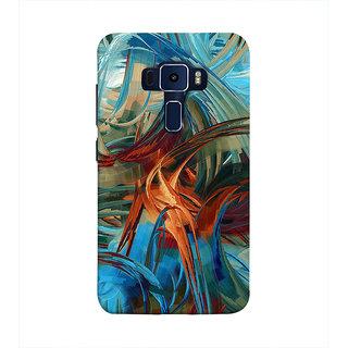 Print Masti Artistic Colorful Modern Art Design Back Cover For Asus Zenfone 3 Laser ZC551KL (5.5 Inches)