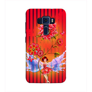 Print Masti Beautifull Scene Of Colorful Flower Design Back Cover For Asus Zenfone 3 Laser ZC551KL (5.5 Inches)
