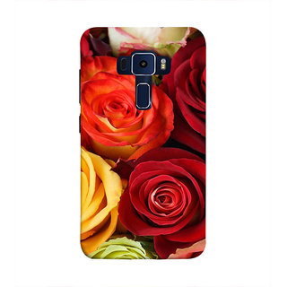 Print Masti Lovely Colorful Checks Design Back Cover For Asus Zenfone 3 Laser ZC551KL (5.5 Inches)