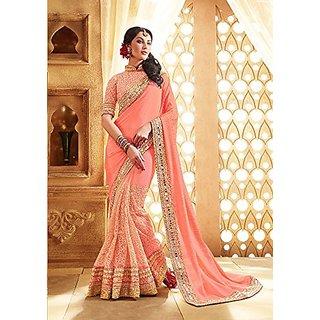Sungaya Fashions women party wear designer Sarees with Blouse piece