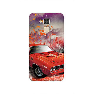 Print Masti Lovely Colorfull Funky Car In Black Background Design Back Cover For Asus Zenfone 3 Max ZC520TL (5.2 Inches)