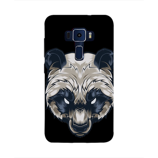 Print Masti Cute Image Of Girl Face Design Back Cover For Asus Zenfone 3 Laser ZC551KL (5.5 Inches)