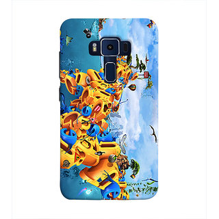Print Masti Lovely Golden Dial Of All Zodiac Signs In Black Background Design Back Cover For Asus Zenfone 3 Deluxe ZS570KL (5.7 Inches)