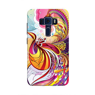 Print Masti Artistic Design Girl With Guitar Back Cover For Asus Zenfone 3 Laser ZC551KL (5.5 Inches)