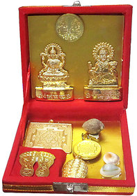 Dhan Laxmi Kuber Dhan Varsha Yantra in Wooden Decorative Box