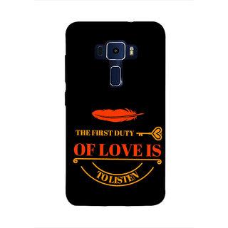 Print Masti Lovely Orange Checks Design Back Cover For Asus Zenfone 3 Laser ZC551KL (5.5 Inches)