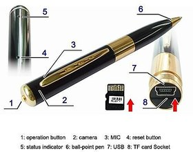HD USB Camera Pen Recorder Hidden Security DVR Cam Video Spy