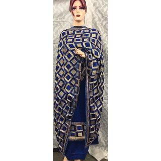 Queens Women's Printed Unstitched Regular Wear Salwar Suit DressMaterial