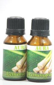 AuraDecor Buy 1 Get 1 100 Pure Undiluted Highly Fragrance Aroma Oil ( LemonGrass )