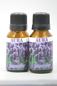 AuraDecor Buy 1 Get 1 100 Pure Undiluted Highly Fragrance Aroma Oil ( Lavender )