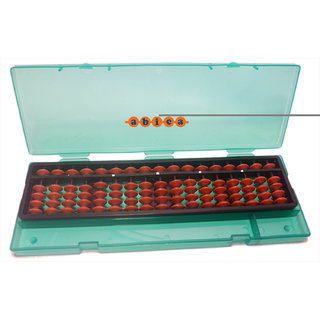 Abacus math learning kit for kids Brown with box