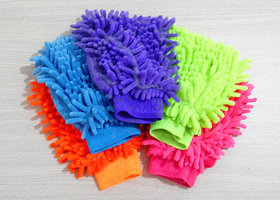 Microfibre super mitt household cleaning cloth 2 pcs for car, computer, Mobile,
