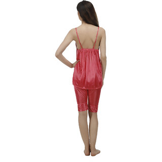 27628cd9e1 Buy Arlopa 2 Pieces Night Suit in Satin Capri and Top Online - Get ...