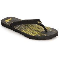 Puma Mens Black  Yellow Flip Flops