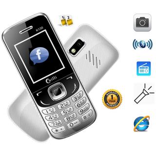 Chilli-K130 Dual Sim GSM with Facebook Multimedia Camera Mobile Phone