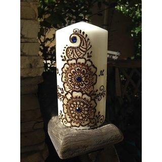 Floral Designer Henna Candle