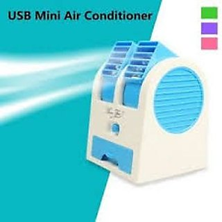Mini Portable USB Small Cooling Airconditioner Fan (Random Color)