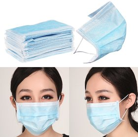3 - PLY DISPOSABLE FACE MASKS - 100 PIECES BEST QUALITY