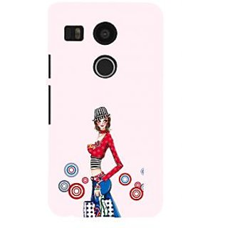 Print Masti Lovely Animated Super Hero Is Fighting Design Back Cover For LG Nexus 5X :: LG Google Nexus 5X New