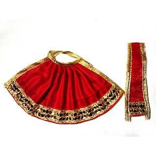 DivineAura Durga & Ganesh Dress (5 INCH IDOL)