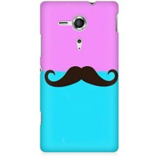 RAYITE Mustache Premium Printed Mobile Back Case Cover For Sony Xperia SP M35H