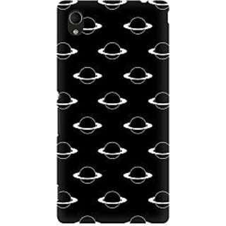 RAYITE Planets Pattern Premium Printed Mobile Back Case Cover For Sony Xperia M4