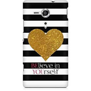 RAYITE Believe Premium Printed Mobile Back Case Cover For Sony Xperia SP M35H