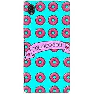 RAYITE Food Lover Premium Printed Mobile Back Case Cover For Sony Xperia M4
