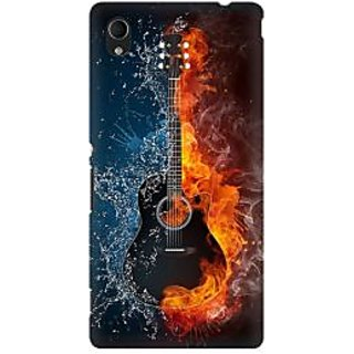 RAYITE Guitar Premium Printed Mobile Back Case Cover For Sony Xperia M4